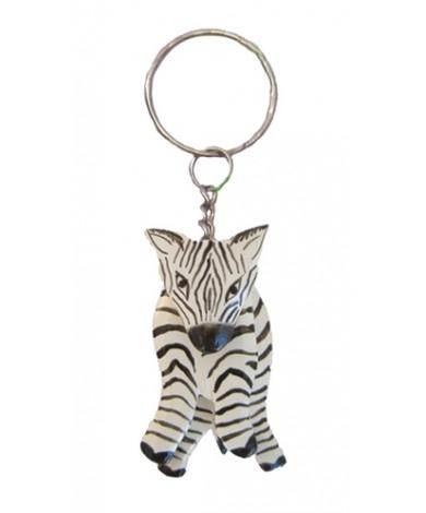 Handmade Zebra Keychain