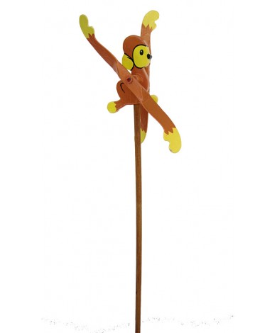Monkey Animal Windmill - Handmade Wooden Windmills