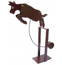 Perpetual Motion Brown Cow Balance Toy - Handmade Carved Wooden Animal Toys