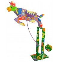 Perpetual Motion Cow Balance Toy - Handmade Carved Wooden Animal Toys