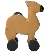 Wooden Camel Animal Car Toys - Handmade, Hand-Painted Childrens Toy
