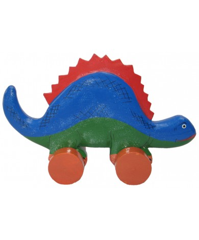 Wooden Dinosaur Animal Car Toys - Handmade, Hand-Painted Childrens Toy