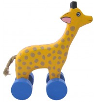 Wooden Giraffe Animal Car Toys - Handmade, Hand-Painted Childrens Toy