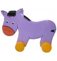 Wooden Horse Animal Car Toys - Handmade, Hand-Painted Childrens Toy