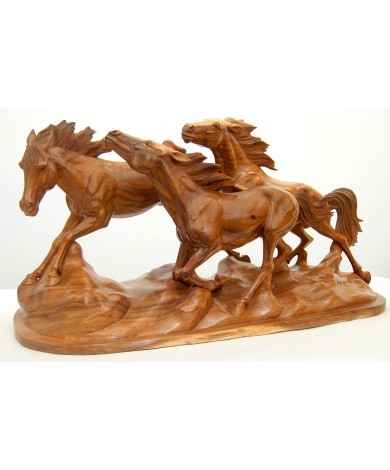 Wild Horse Animal Carving