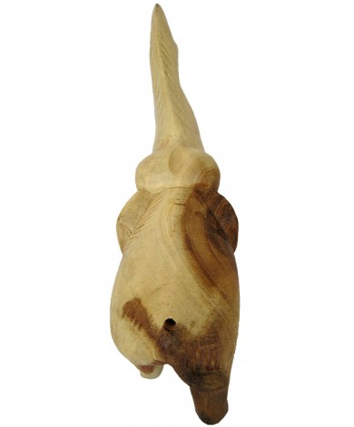 Back View - Trumpeting Elephant - Handcarved Wooden Jungle Animals