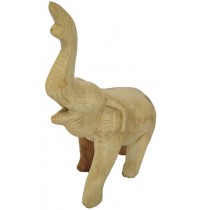 Trumpeting Elephant - Handcarved Wooden Jungle Animals