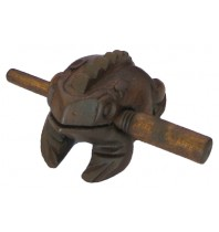 Handmade Wooden Musical Croaking Frog Rasps - Medium Wood 3-inch