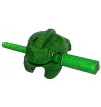 Handmade Green Color Wooden Musical Croaking Frog - 1.5-inch Wood Singing Frog Rasp