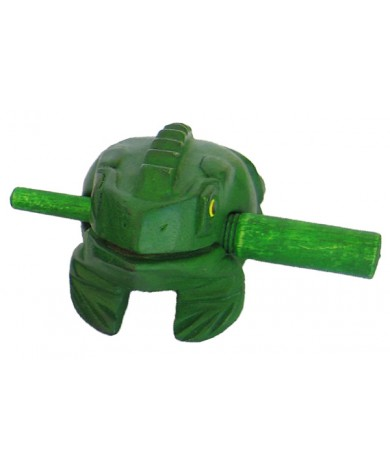 Handmade Green Wooden Musical Croaking Frog