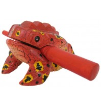 Handmade Wooden Singing Frog