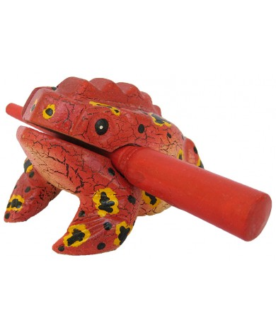 Handmade Wooden Singing Frog