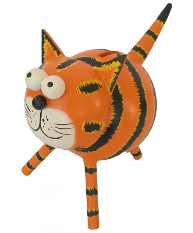 Large Orange Cat Animal Coin - Piggybank