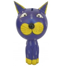 Large Purple Cat Animal Coin - Piggybank