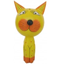 Large Large Yellow Cat Animal Coin - Piggybank