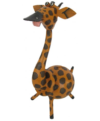 Large Tan Giraffe Animal Coin - Piggybank