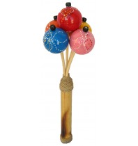 Maracas Small Color - Hand Carved Wooden Musical Instrument