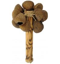 Maracas Pangi - Hand Carved Bamboo Maraca Musical Instrument