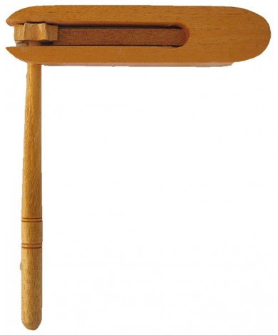 Grager Handmade Crank Toy, Hand Carved Noisemaker