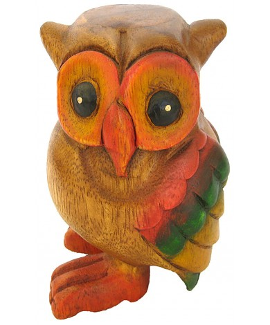 Handmade Wooden Owl Animal Carving