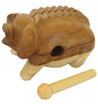 3-inch Oinking Pig - Handcarved Wooden Farm Animals
