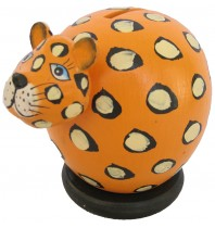 Orange Cheetah Coin Bank - Piggybank