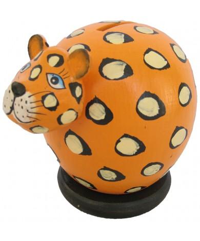 Orange Cheetah Coin Bank - Piggybank