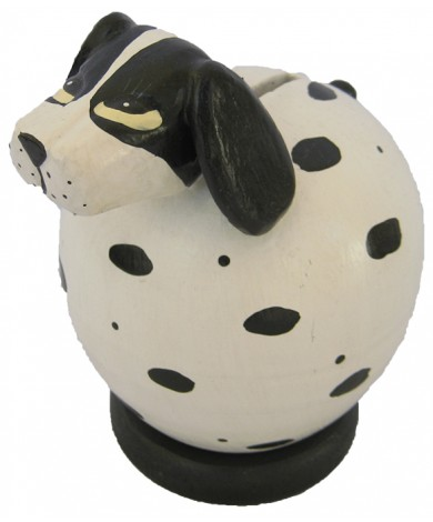 White - Black Spotted Dog Coin Bank - Piggybank