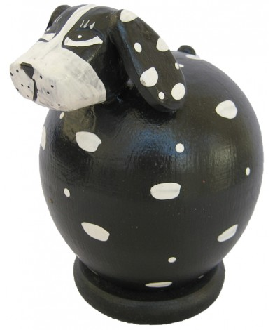 Black-White Spotted Dog Coin Bank - Piggybank