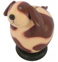 Maroon Puppy Dog Coin Bank - Piggybank