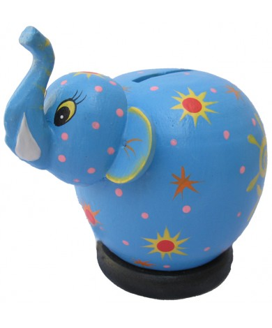Blue Elephant Coin Bank - Piggybanks