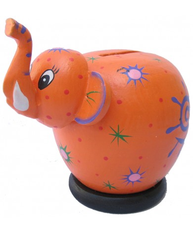 Orange Elephant Coin Bank - Piggybanks