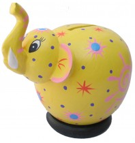 Yellow Elephant Coin Bank - Piggybank