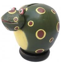Olive Frog Coin Bank - Piggybank