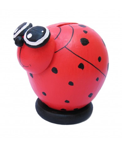 Lady Bug Coin Bank - Piggybank