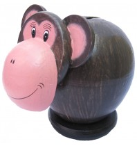 Monkey Pink Coin Bank - Piggybank