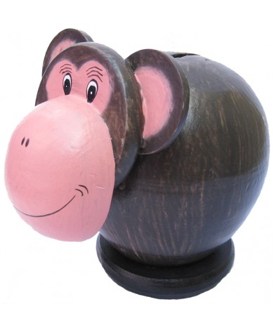 Monkey Pink Coin Bank - Piggybank