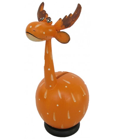Moose Orange Coin Holder - Piggybank