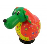 Multi-Colored Dog Small Animal Bank