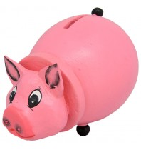 Small Pig Animal Coin Bank - Handmade &  Handpainted Piggybank