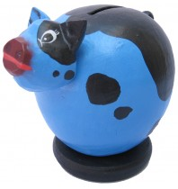 Small Blue Pig Coin Bank - Piggybank