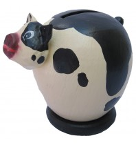 Small Cream Pig Coin Bank - Piggybank