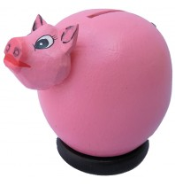 Small Pink Pig Coin Bank - Piggybank