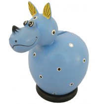 Blue Rhinoceros Coin Bank - Piggybank