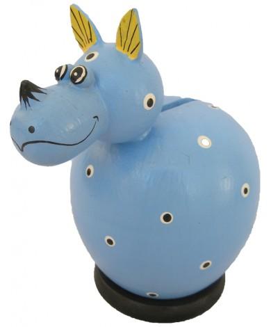 Blue Rhinoceros Coin Bank - Piggybank