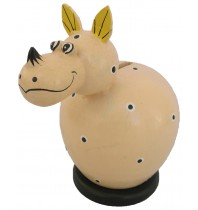 Small Rhinoceros Cream Coin Bank - Piggybank