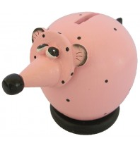 Small Pink Rat Coin Bank - Piggybank