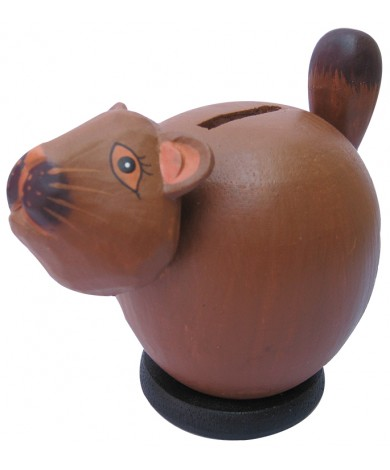 Small Squirrel Coin Bank - Piggybank