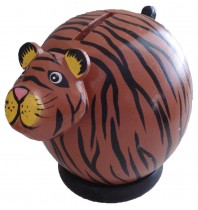 Small Brown Tiger Coin Bank - Piggybank