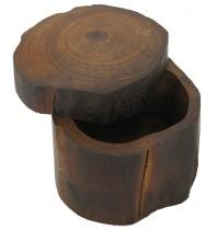 Handmade Teak Log Box Small - Hand Carved Teakwood Decoration Boxes